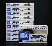 ZENITH HR-60 Blank Audio Cassette Tape Normal Bias 60 Minutes - 10 Packs SEALED
