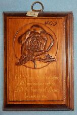 "'Let The Beauty of Jesus be Seen in Me' on Wood Plaque with Rose {5"" x 7""} - New"