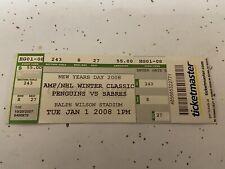 2008 First NHL Winter Classic Penguins vs Sabres Ticket Stub