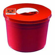 Sharps Container, Round, 5 Quart, Red, WH-8950SA LOT OF 10