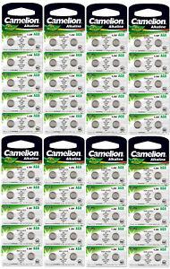 80 Stück Knopfzellen Uhrenbatterien Knopf Zellen Camelion AG8 LR55 LR1121 L1121