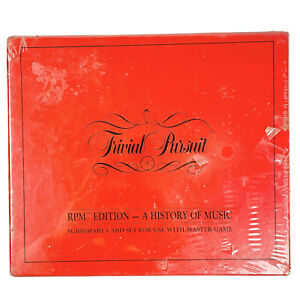 Trivial Pursuit RPM Edition A History of Music Subsidiary Cards Sealed