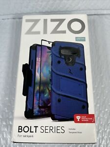 LG Stylo 6 Bolt Case W/Stand - Blue/Black Cover Shield