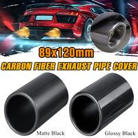 "1x 3.5"" Outlet Carbon Fiber Car Exhaust Muffler Pipe Tip Cover Trim"