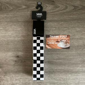 Vans Deppster II Web Belt Checkerboard White Black Bottle Opener Buckle OS NWOT