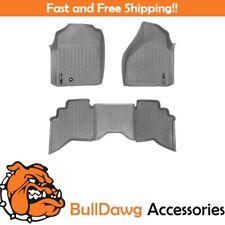 SMARTLINER All Weather Floor Mats Liner for Dodge RAM Quad Cab Front Set Gray