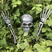 Horrible Artificial Skull Skeleton Arm Hands Halloween Haunted House Decor Filmy