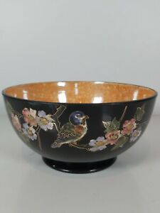 A Bretby Art Pottery Decorated With Cloisonne Panel Of Birds On Blossom Branches