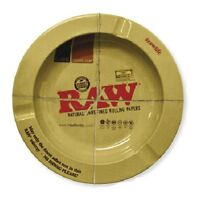 """RAW Rolling Papers Round Metal Ashtray - Size: 5.5"""" X 5.5"""" X .7"""""""