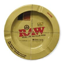 Raw Rolling Papers Round Metal Ashtray - Size: 5.5� X 5.5� X .7�