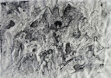 Listed George Sears Greene 1908-1985 Drawing w/ Painting Lambertville NJ Artist