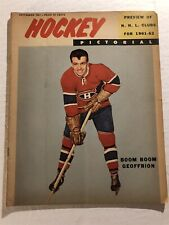 1961 Hockey Pictorial MONTREAL CANADIANS No Label BOOM BOOM GEOFFRION