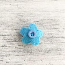 Blue Felt Button Flower 2006-08 Jibbit Charm For Clog Croc Shoes