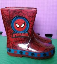 MARVEL ULTIMATE SPIDERMAN KIDS FLASHING HEEL WELLIES INFANT SIZE 6