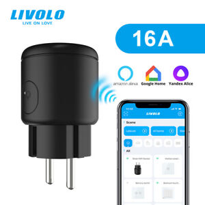 LIVOLO EU Standard External Smart Wi-Fi Socket 16A Alexa Google Home APP Control