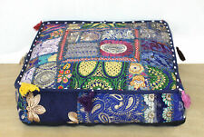 "35"" Patchwork Indian Handmade Square Footstool Ottoman Pouf Cover Home Decor"