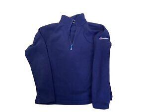 berghaus Ladies Fitted Lightweight Classic Fleece 1/4 Zip Jumper Uk 14 Blue