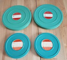 VINTAGE PLASTIC 8 MM FILM REELS WITH CANISTERS