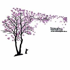 60'' Large Twin purple Tree Wall Stickers Removable Vinyl. DIY