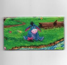 EEYORE CHECKBOOK COVER SITTING IN THE PARK NEW FABRIC