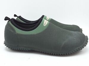 ORGINAL MUCK BOOT CO WOMENS BLACK GREEN WATERPROOF LOAFERS SHOES SZ 5-5.5