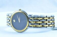 MOVADO MUSEUM DAMEN WATCH UHR RAR STAHL TOP QUARTZ 25MM STAHL/GOLD