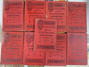 Engelhorns Allgemeine Roman Bibliothek German General Novel Lot 9Diff