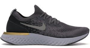 Nike Epic React Flyknit Mens AQ0067-009 Thunder Grey Moss Running Shoe Size 10.5