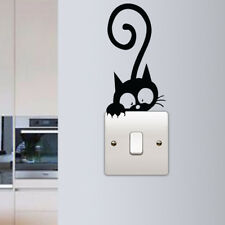 Funny Cat Wall Sticker Switch Vinyl Decal Lightswitch Kids Room DIY