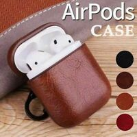 Leather Airpods Earphone Protective Cover Case For Apple iPhone AirPods 1st 2nd