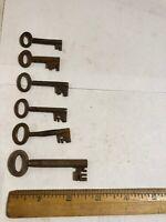 6 Vintage  Cabinet  Keys