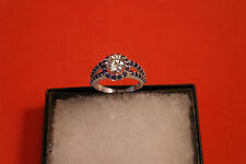 Beautiful 14 Carat White Gold Ring 2.3 Gr. 2.70 Carat Solitaire Diamond Size N