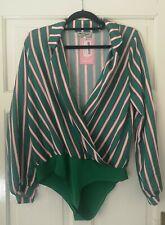 Missy empire Green Stripe Bodysuit Size 12