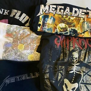 Vintage Band T Shirt Bundle Job Lot Slipknot Metallica Megadeth Set Of 5 M-XXL