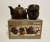Pier 1 Imports Sonomi Teapot and Cup Set (4 - 5.9 oz cups)