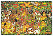 (96868) Tarjeta postal India hindú Temple Mural Kerala - sin sellar