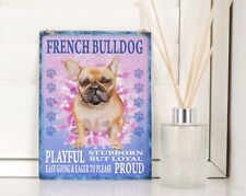 new French Bulldog hanging Sign Retro shabby chic Gift vintage Dog breed plaque