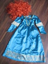 Girls BRAVE - Merida fancy dress costume outfit with wig 5-6 years VGC Tesco