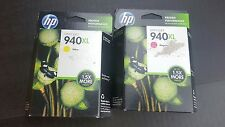 Genuine HP 940XL Ink Cartridges Magenta Yellow 2-pack