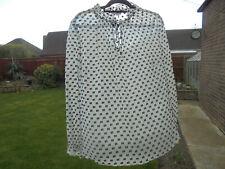BODEN blouse SIZE 18  RUFFLE NECK BLOUSE IVORY AND BLACK , WA741 COST £89
