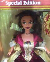 Disney Barbie Holiday Princess Belle Beauty & the Beast Doll Christmas 1997