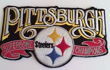 "Pittsburgh Steelers Vintage Embroidered Iron On Patch Super Bowl Nfl 4"" x 2.5"