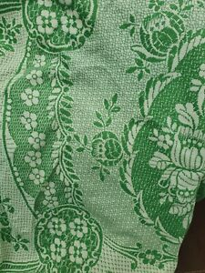 Green Vintage 60s Throw 80x86 In Double