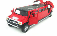 Hummer H6 Extended Sound Light Pullback Model Diecast Car New no Box Red