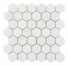 Bianco Thassos Polished Hexagon, Natural Stone, Decor Marble Mosaic, SAMPLE