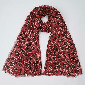 NEW EX FAT FACE SCARF RED INKY LADIES WOMENS FLORAL PRINT