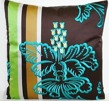 Designers Guild Linen Embroidered Square Decorative Cushions