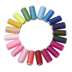 20rolls Mixed Color 402 Polyester Sewing Thread Cords for Cloth DIY Craft 0.1mm