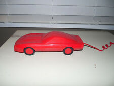 Vintage Touch Tone 1980's RED CORVETTE CAR PHONE Electric Works GREAT