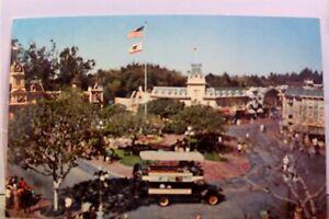 Disneyland Town Square Main Street Postcard Old Vintage Card View Standard Post